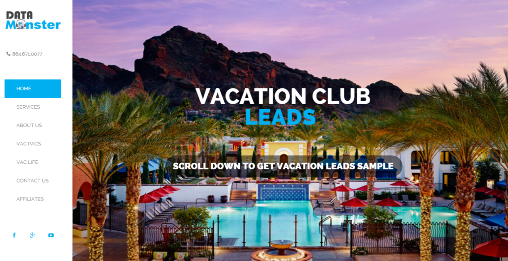 Vacation Club Leads Home Page Pic