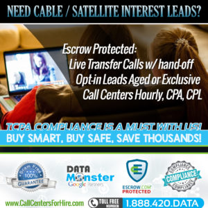 Cable sales and Satellite Lead