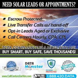Solar Energy Leads appointment setting
