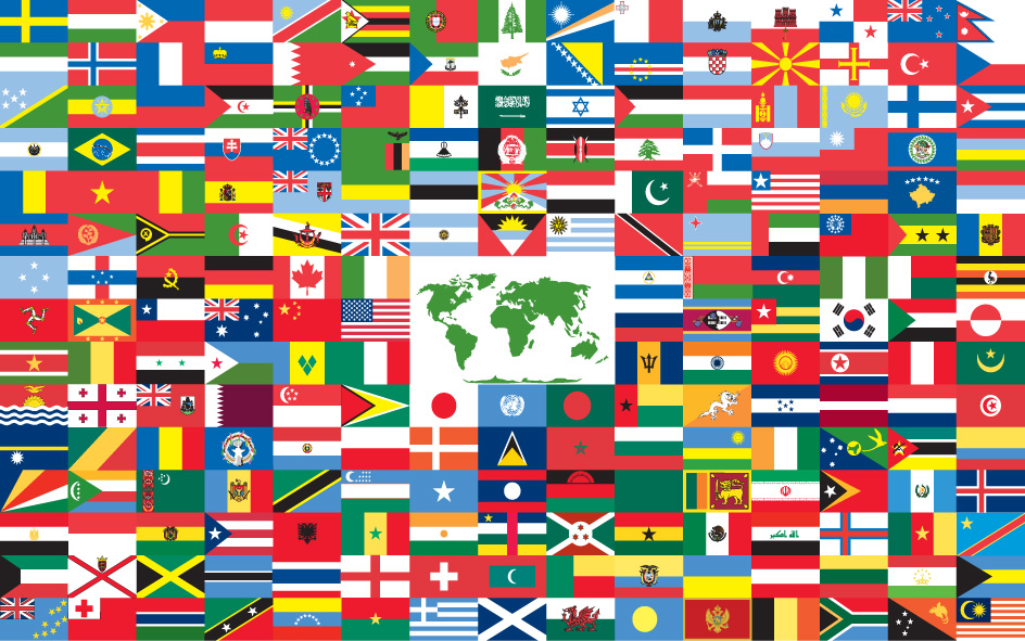 CALL CENTERS FROM ALL AROUND THE GLOBE FLAGS