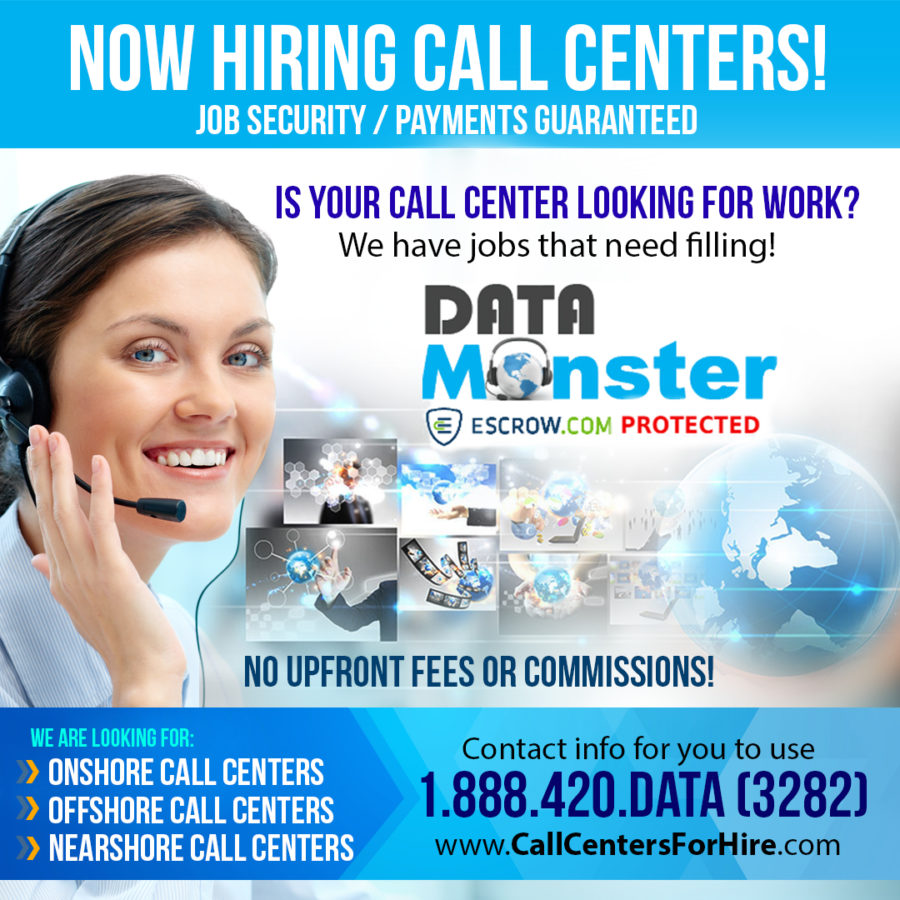 NOW HIRING FOR CALL CENTERS