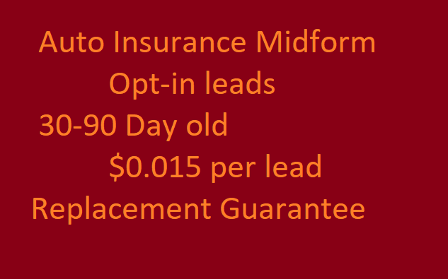 Usa Auto Insurance >> 10k Usa Auto Insurance Leads With Phone Email Car Info And Dob Opt In Leads Aged