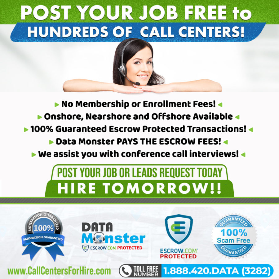 Post your job and Hire a call center