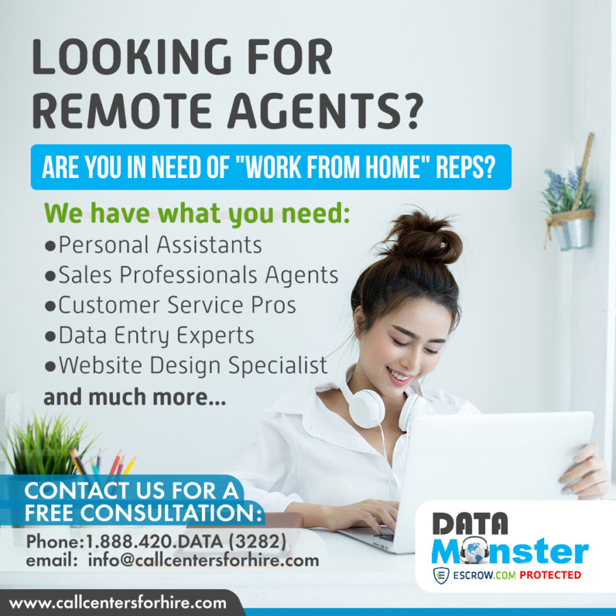 Hire work from home agents