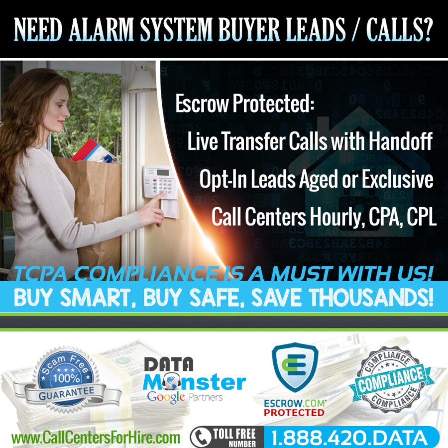 Home Security Alarms Smart homes sales leads and live transfer leads